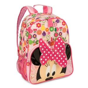 """Disney Store Minnie Mouse Backpack 16"""" NWT"""